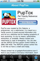 ScreenShot of PupTox